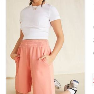 Pants - French terry shorts nwt coral peach